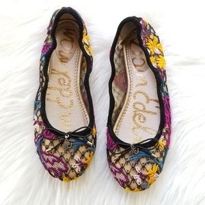 Sam Edelman Felicia embroidered flats sz 5.5